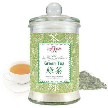 Vonná svíčka ARosée z kolekce Jewellery Collection s vůní zeleného čaje.