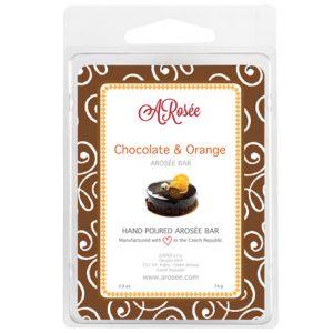 sojový vonný vosk do aromalampy s vůní čokolády a pomeranče