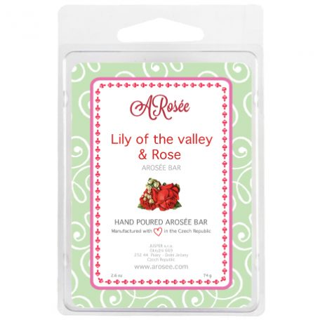 sojový vonný voskdoaromalampy s vůní konvalinky a růže
