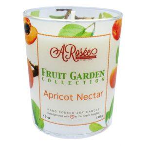 Vonná sojová svíčka ARosée Apricot Nectar s vůní meruňkového nektaru