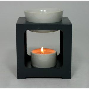 Aroma lampa Family ze dřeva a keramiky