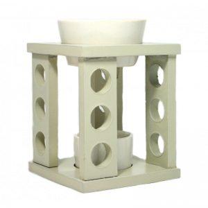 Aroma lampa ze dřeva a keramiky