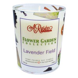 Sojová vonná svíčka ARosée Lavender Field s vůní levandule