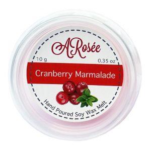 Sojový vonný mini vosk do aromalampy s vůní brusinkové marmelády