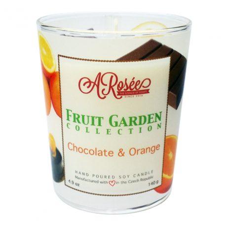 """Sojová vonná svíčka ARosée """"Chocolate & Orange"""" s vůní luxusní tmavé hořké čokolády a pomeranče"""